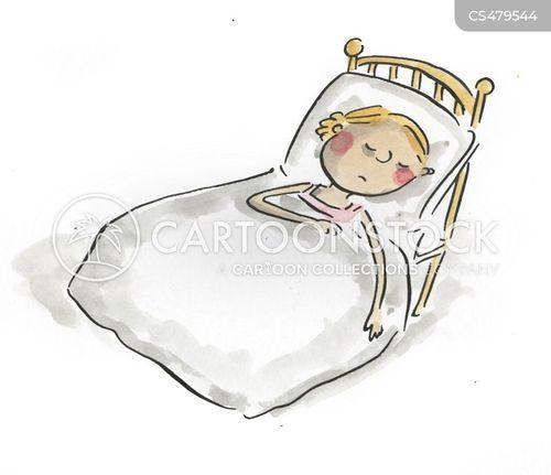 bed-ridden cartoon