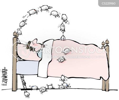 count sheep cartoon