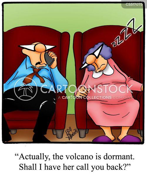 erupting cartoon