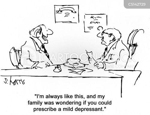 anti depressants cartoon