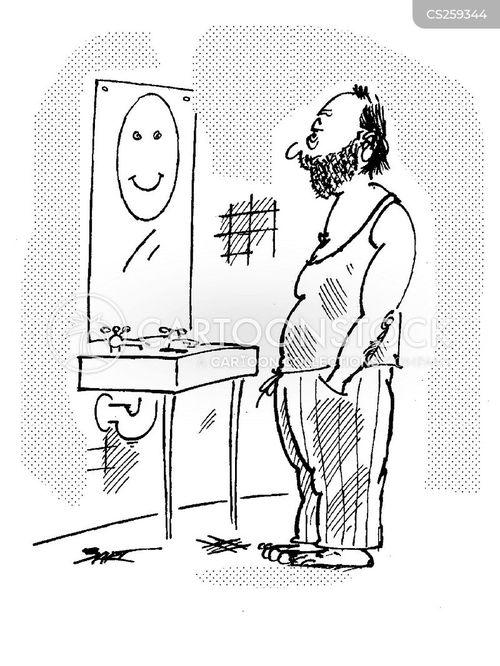 bathroom mirror cartoon