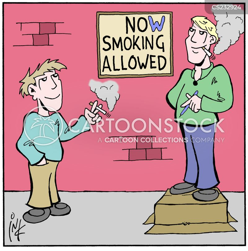 smoking areas cartoon
