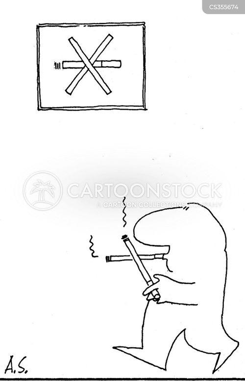 smoking campaigns cartoon