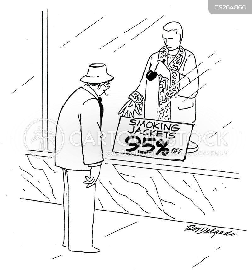smoking jacket cartoon