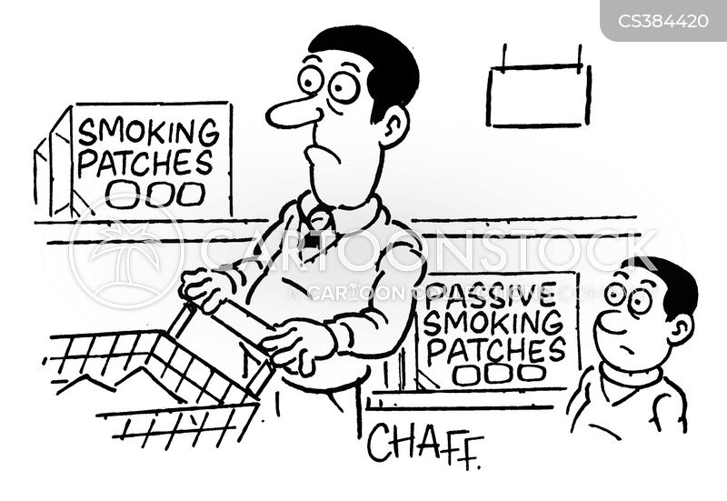nicotine addicts cartoon