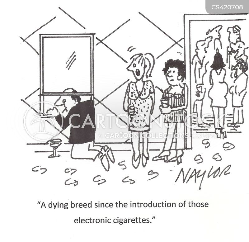 electronic cigarettes cartoon