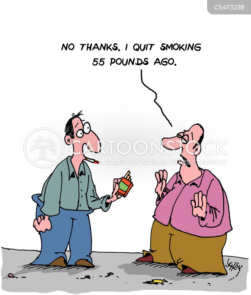 nicotine addictions cartoon