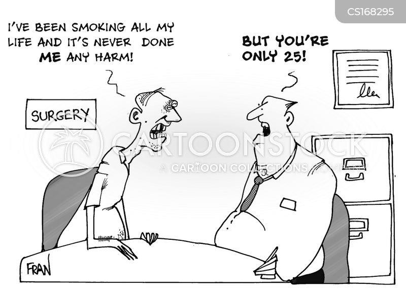stop smoking cartoon