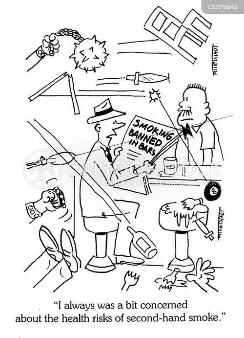 passive smoking cartoon
