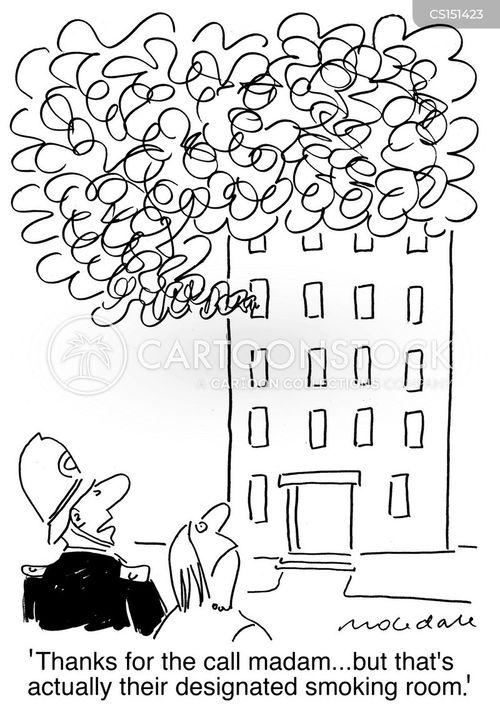 smoking room cartoon
