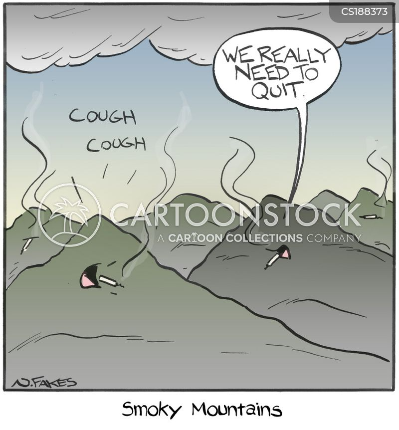 hacking coughs cartoon