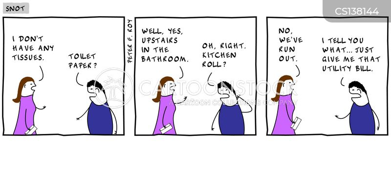 kitchen roll cartoon