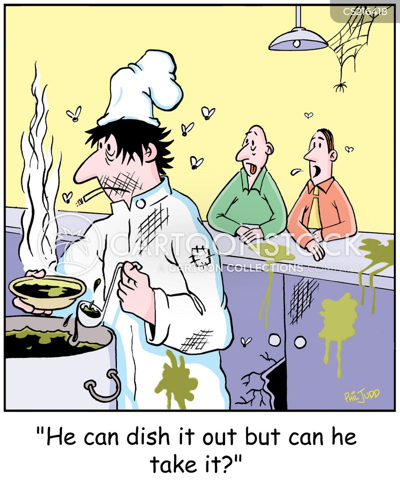 dish it out cartoon