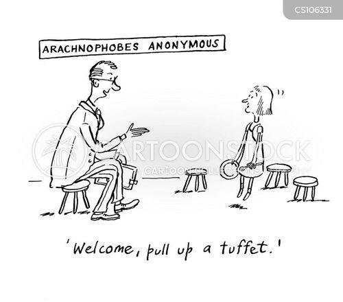 arachnophobes cartoon