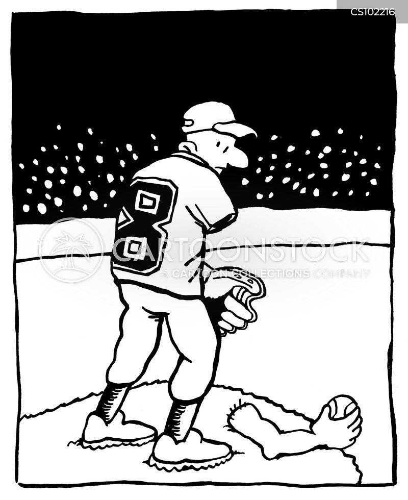 Injured Cartoon Baseball