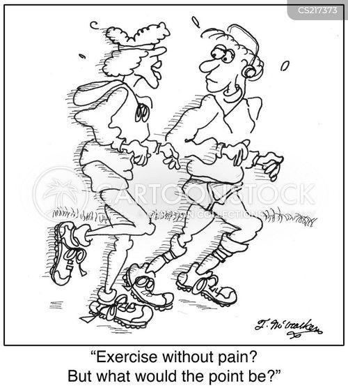no pain no gain cartoon