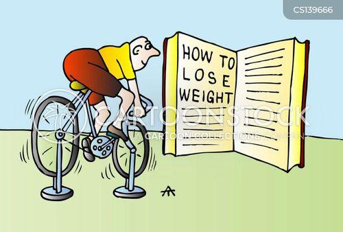 stationary bicycles cartoon