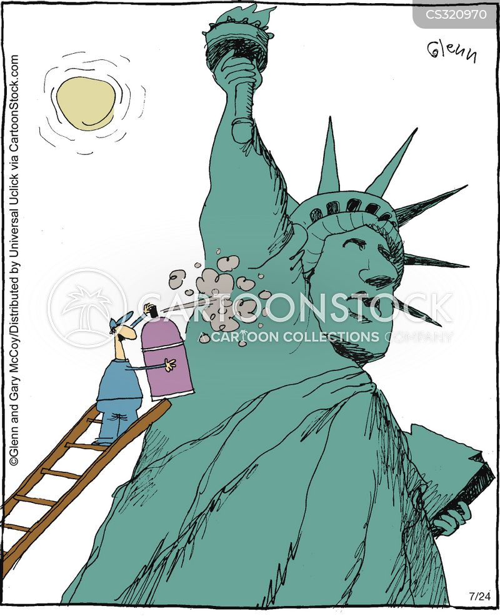 sprayed cartoon