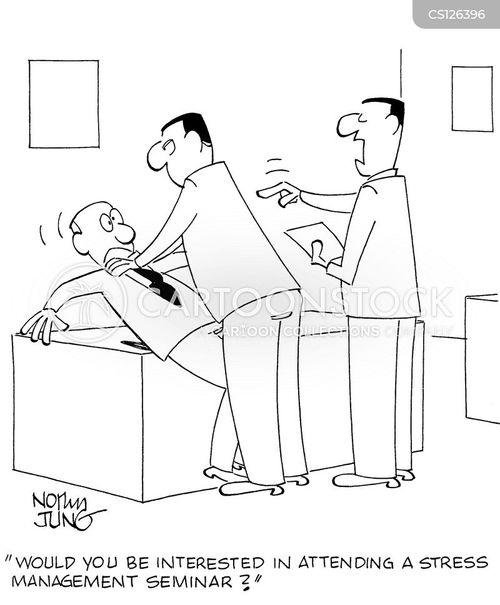 stress manager cartoon