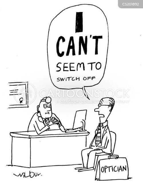eyesight test cartoon
