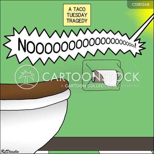 upset stomach cartoon