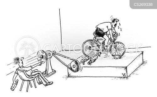 exercisers cartoon