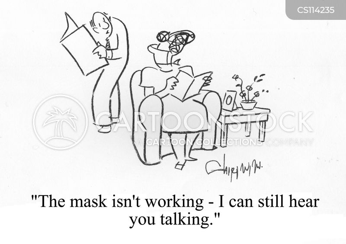 masking cartoon