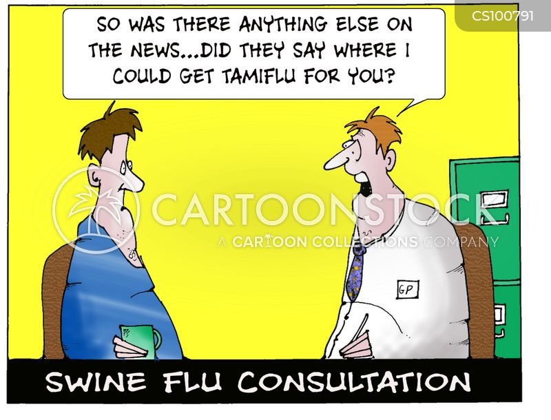 swine flue cartoon