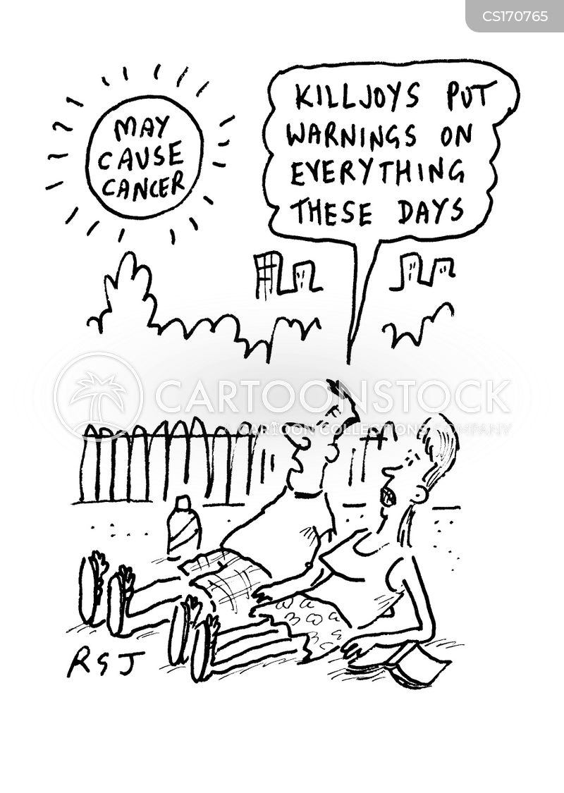 sun tans cartoon