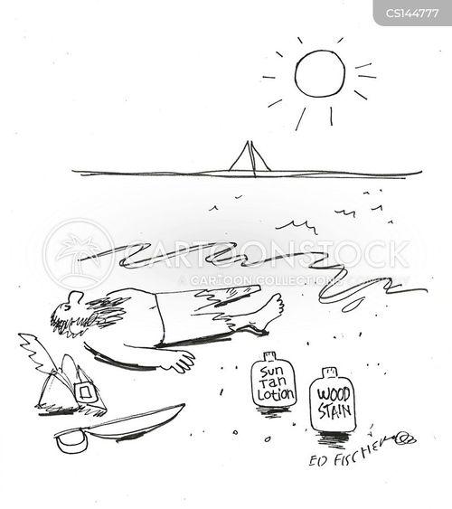 sun tan lotion cartoon