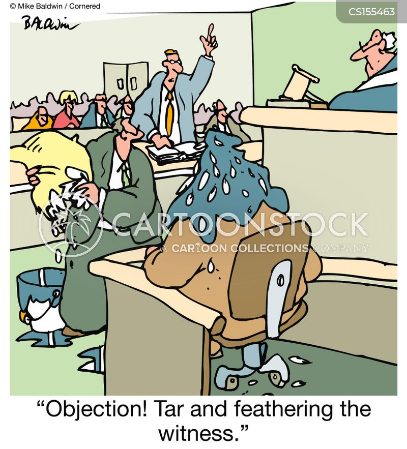 tarring and feathering cartoon