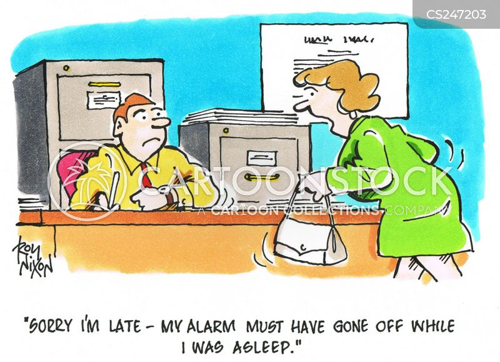 overslept cartoon