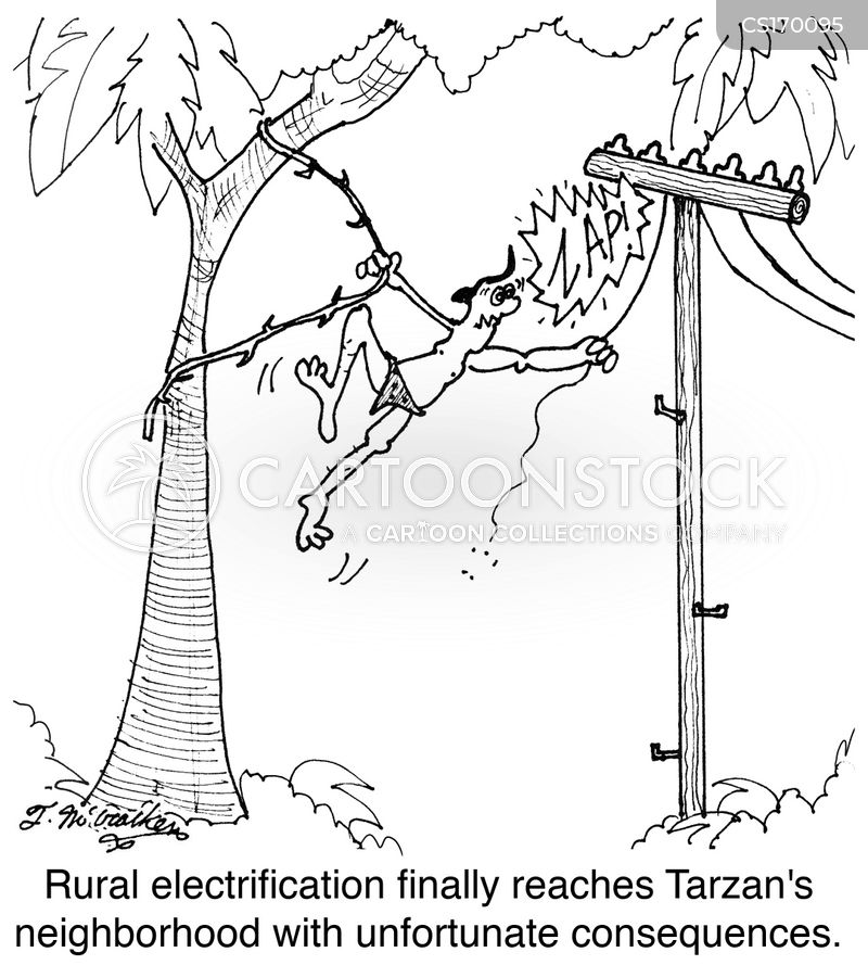 electric line cartoon