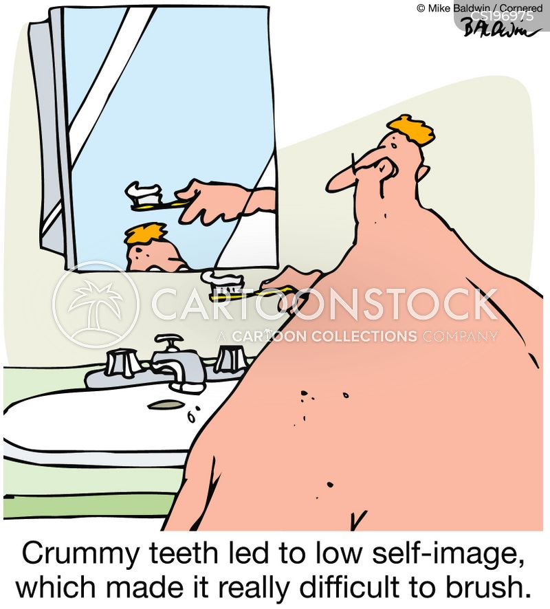 brushing cartoon
