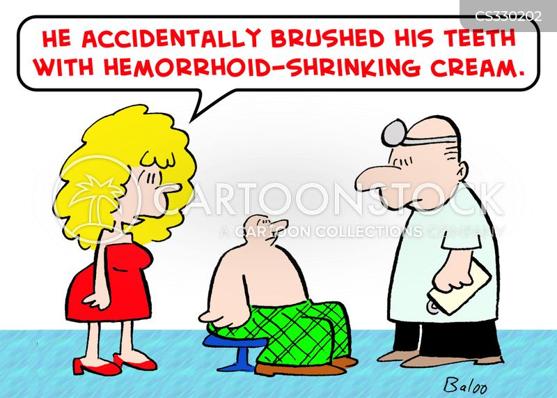hemorrhoid cartoon