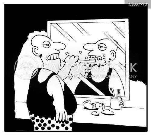 teeth brushing cartoon