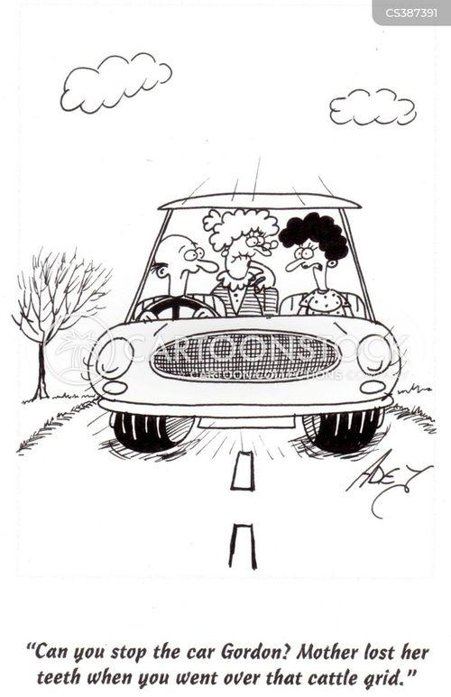 fast driver cartoon