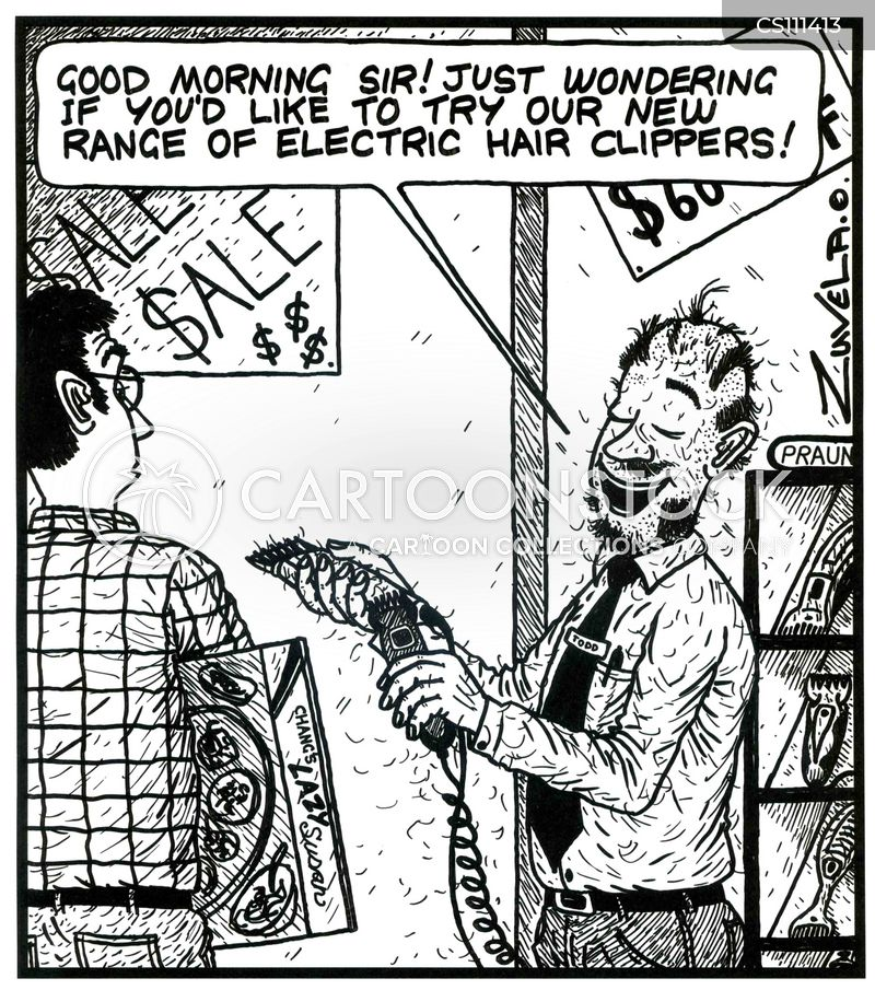Hair Clippers Cartoons And Comics Funny Pictures From Cartoonstock