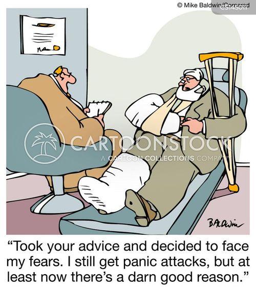 panic attack cartoon