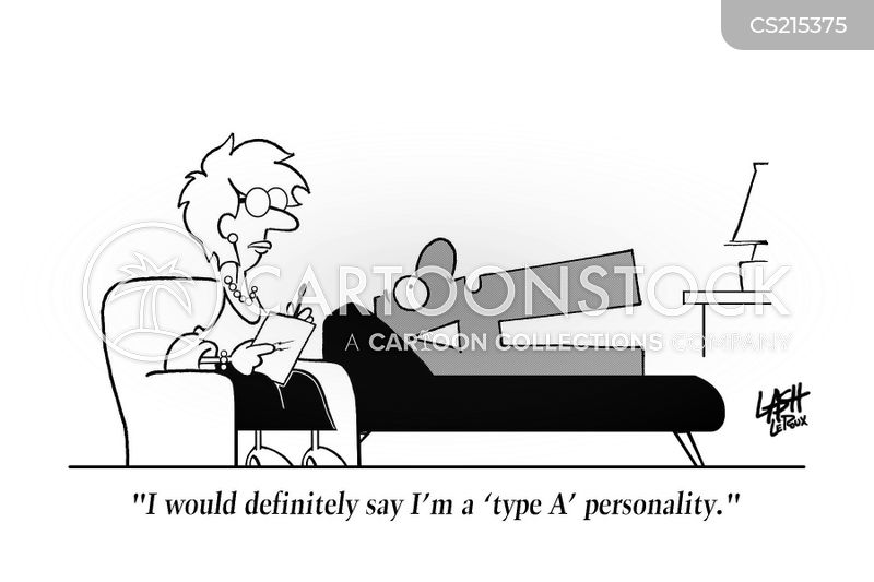 type a personality cartoon