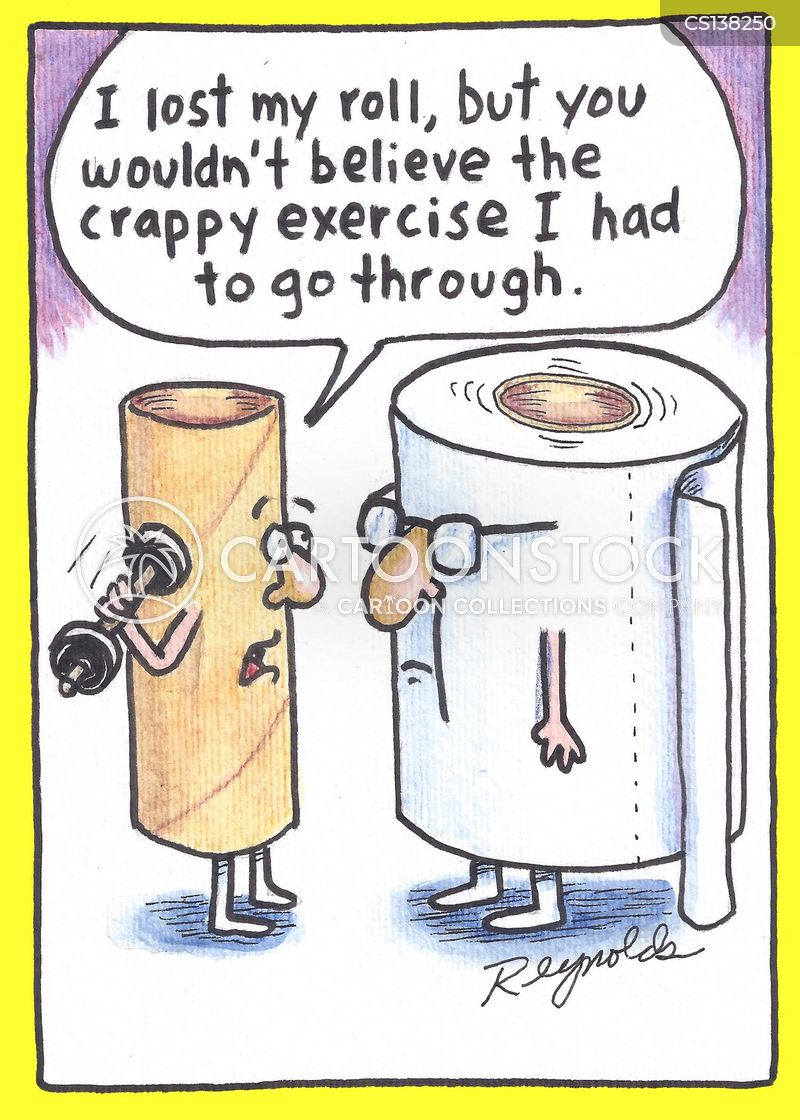 bog roll cartoon