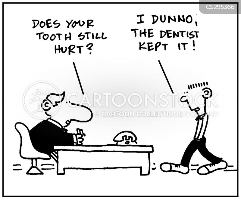 tooth ache cartoon