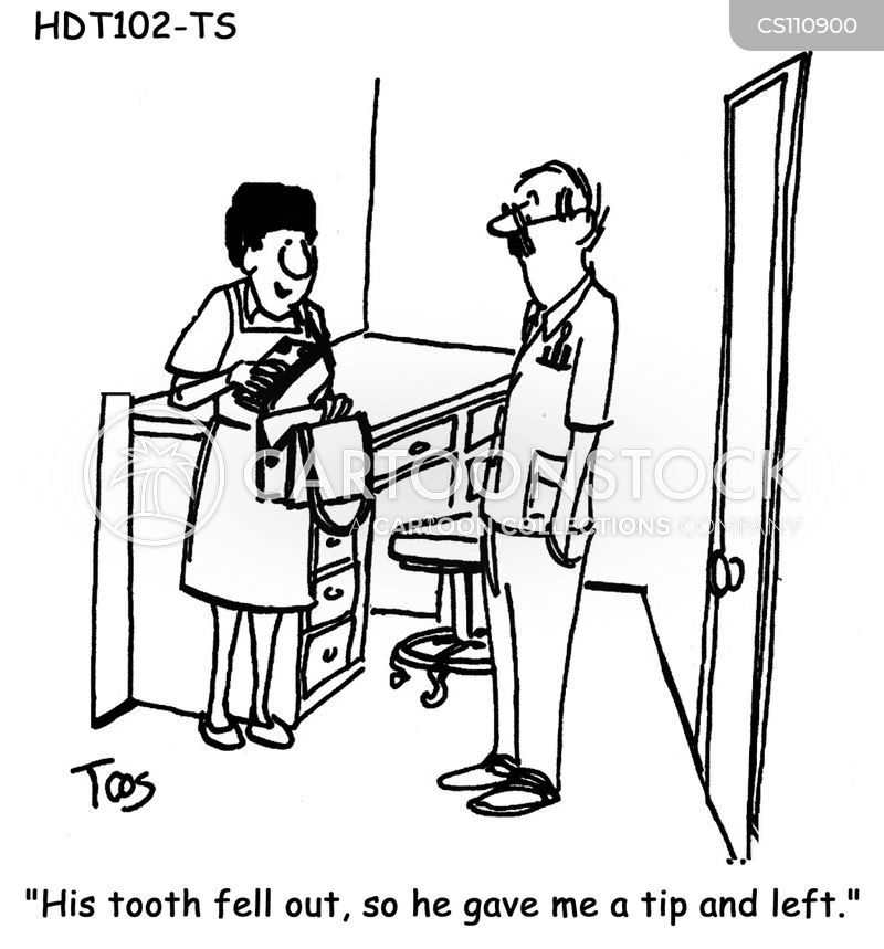 teeth cleaning cartoon