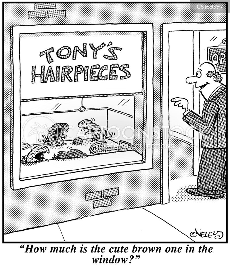 wig maker cartoon