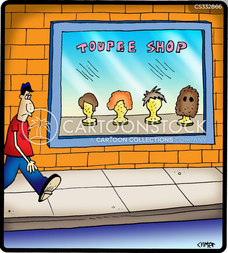 wig parlor cartoon