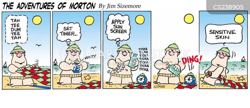 sensitive skin cartoon