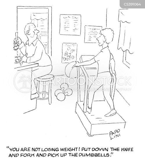 dumbbell cartoon