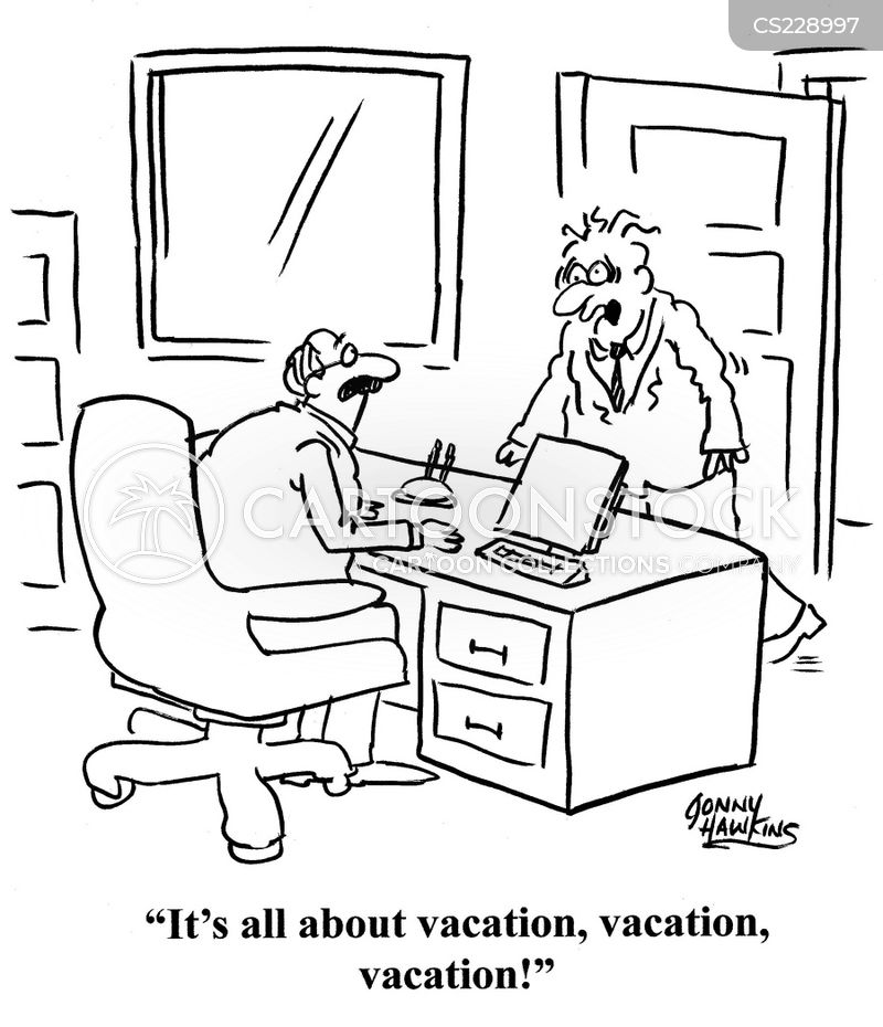 vacation time cartoon