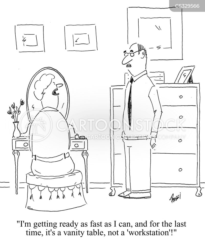 dressing table cartoon