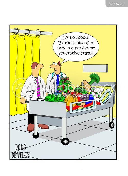 vegetative state cartoon